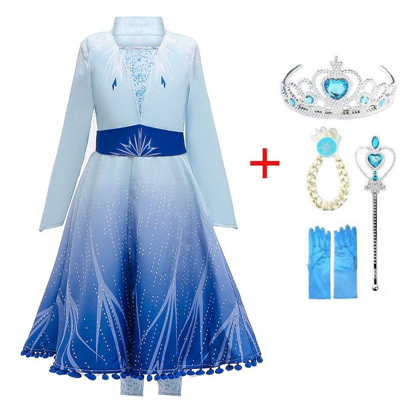 Женское платье для косплея Снежной королевы, платье принцессы Анны и Эльзы, одежда для малышей, детская одежда, платье Elza