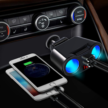 5V3.1A Car Cigarette Lighter USB Splitter Plug Converter For Xiaomi Adapter USB Car Charger For Mobile Phone MP3 DVR Accessories image