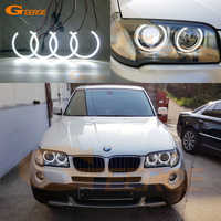 For BMW E83 X3 Facelift 2007 2008 2009 2010 Excellent Ultra bright smd led Angel Eyes kit DRL Car styling
