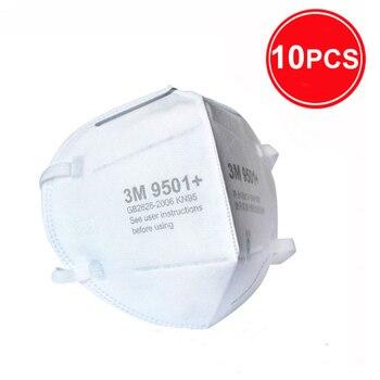 3M 9501 + Maschera Particolato Maschere di Protezione Maschera di Sicurezza Usa E Getta Viso Maschera Sanitari Respiratore Lavoro 3M KN95 Mascarilla 9