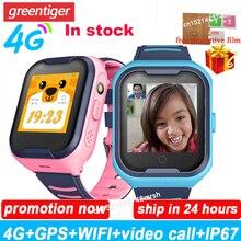 Детские Смарт часы 4G Wifi GPS Трекер Смарт часы Дети 4g часы телефон видео звонок водонепроницаемые Смарт часы для детей часы PK Q50 Q90