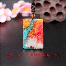 Натуральный цвет Хотан Нефритовый камень дракон кулон ожерелье Китайский жадеит ювелирные изделия модный амулет резные Подарки для женщин и мужчин