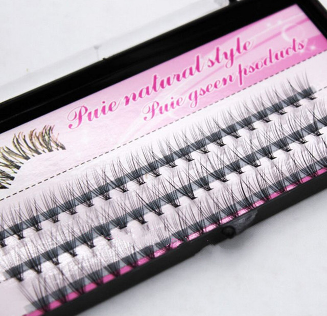 Fashion 60pcs Professional Makeup Individual Cluster Eye Lashes Grafting Fake False Eyelashes Free Shipping Cosmetic Tools 3