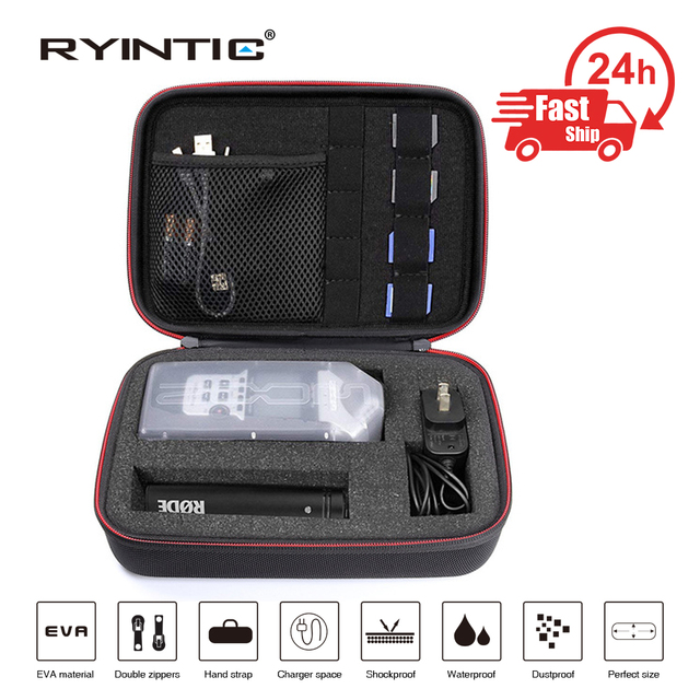 Hard Portable Carry Shockproof Case Bag for ZOOM H1, H2N, H5, H4N, H6, F8, Q8 Handy Music Recorders, Charger, Mic Tripod Adapter