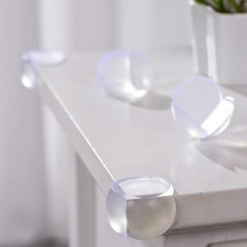 1pcs Clear Silicone Safety Table Corner Protector Baby Safety Baby Protection Table Desk Edge Corner Soft Pad 2