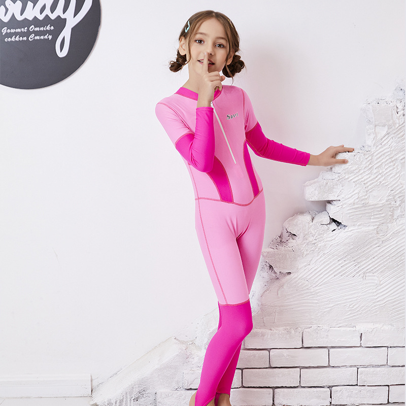 Children Diving Suit Industry Long Sleeve Trousers Men And Women Child Big Boy Sun-resistant One-piece Swimming Suit
