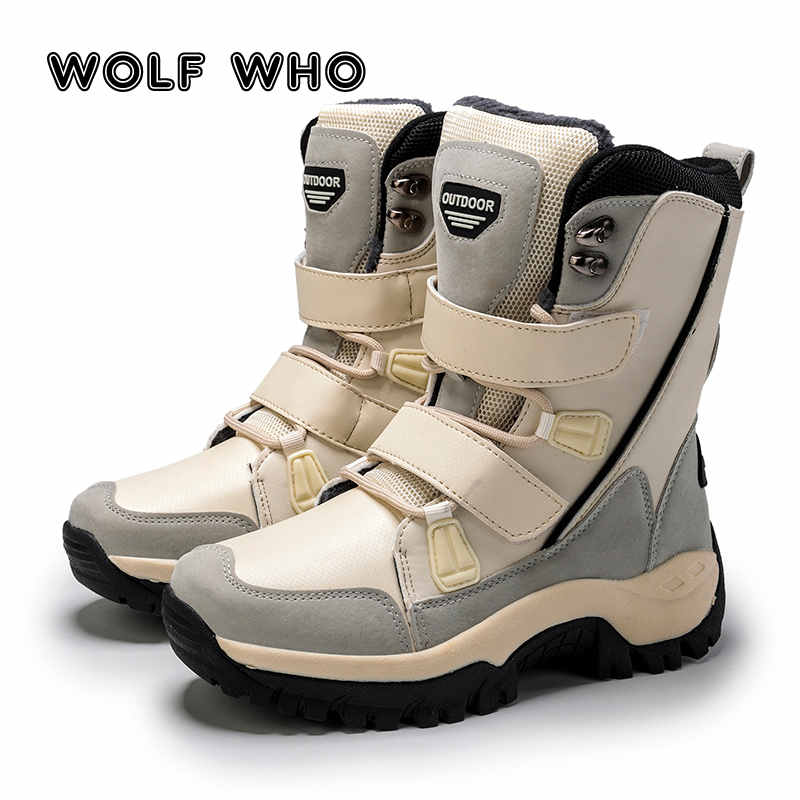 Leisure Shoes for Women Fashion Ladies Winter Boots Velcro Girl Snow Boots Keep Warm Fur Ankle Boots Platform Plush Booties H18