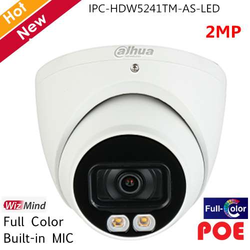 Dahua Full Color IP Camera Pro-AI Series 2MP 2 IR Leds Built-in MIC H.265 Support SD Card Security Camera