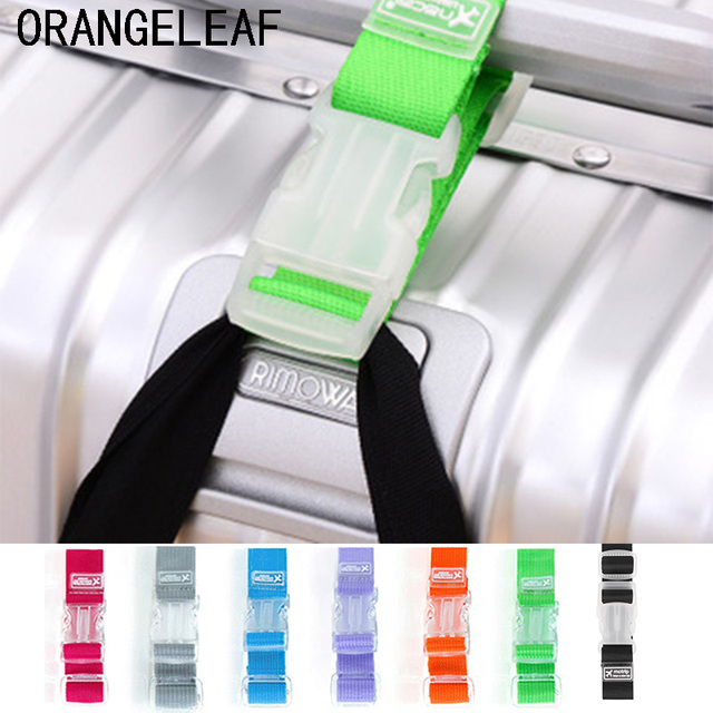 רצועות מטען מתכוונן ניילון מזוודות אביזרי תליית אבזם רצועות מזוודה תיק רצועות צבעוני עניבת למטה חגורת מטען