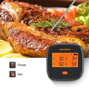 Image 3 - Inkbird wi fi肉デジタル温度計IBBQ 4Tバーベキュー温度計 4 プローブ 2000 3600mahの充電式バッテリーキッチン喫煙グリル