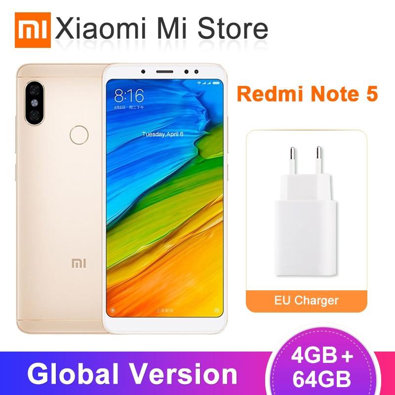 Global Version Xiaomi Redmi Note 5 4GB RAM 64GB ROM Snapdragon 636 Octa Core 5.99