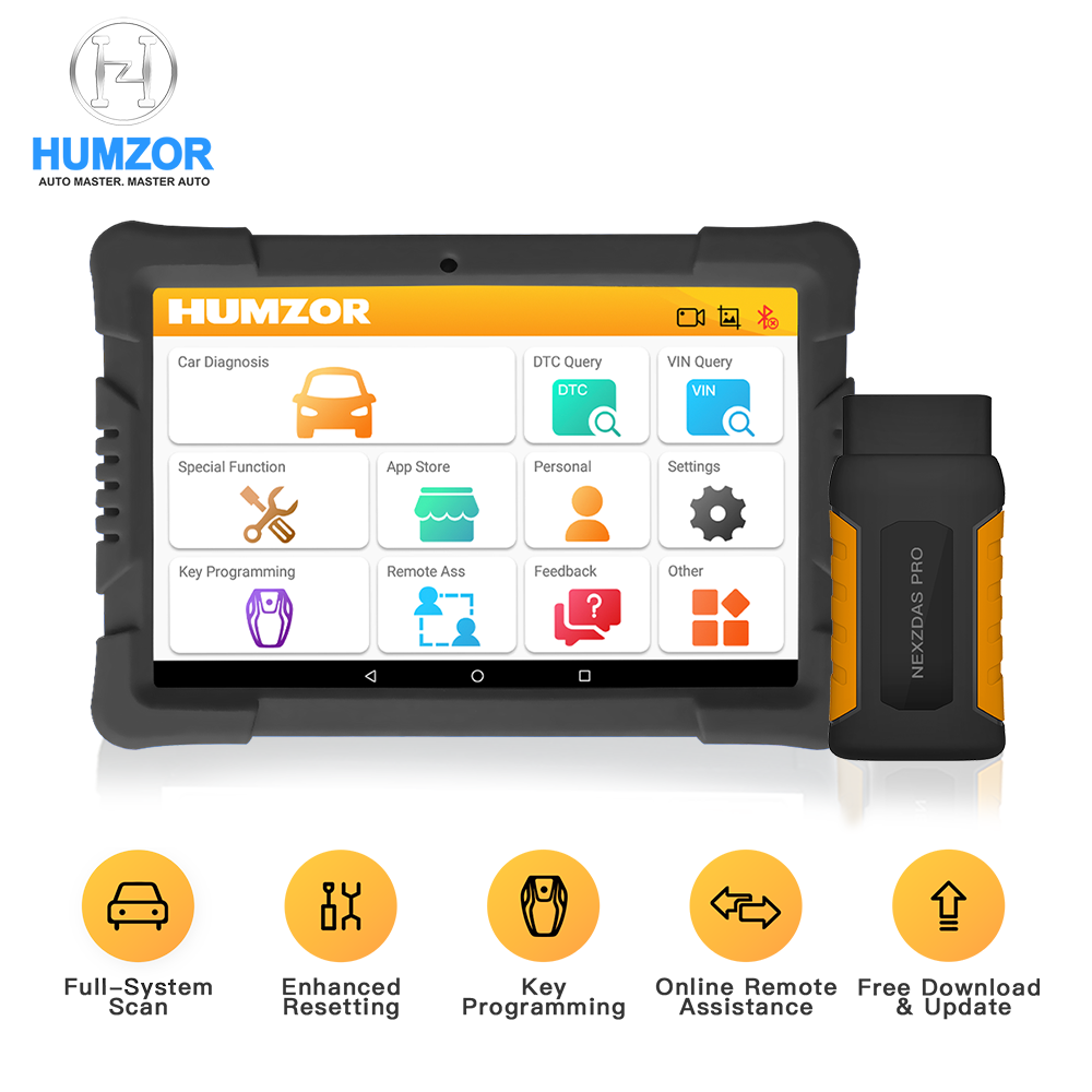 Humzor NexzDAS OBD2 Scanner 10 Inch Tablet Full System Diagnostic Tool OBD 2 Automotive Scanner Code Reader