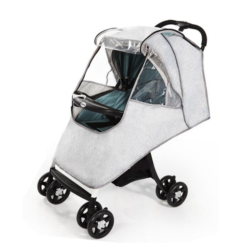 Stroller Accessories Waterproof Rain Cover Transparent Wind Dust Shield Open For Baby Strollers Pushchairs Raincoat