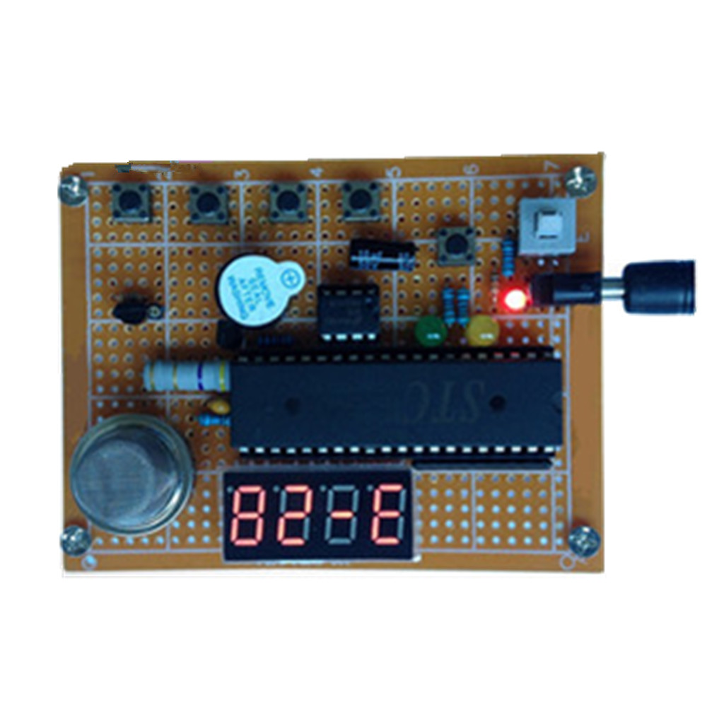 Taidacent STC89C51 MQ2 Carbon Monoxide Gas Sensor Diy Fire Alarm Smart Smoke Detector Rf Module Library For Proteus Learning