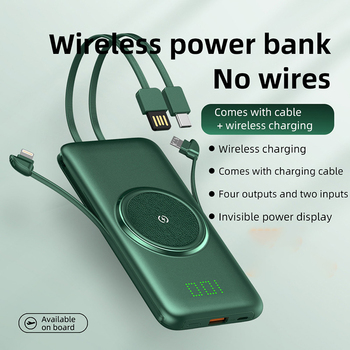 Wireless Charger Power Bank For Xiaomi iPhone Portable