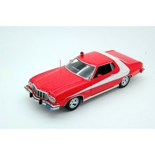 Greentight-colección de coches de policía, juguetes modelos de automóviles de imitación de Metal fundido a presión, Gran Torino 1:24, 1976