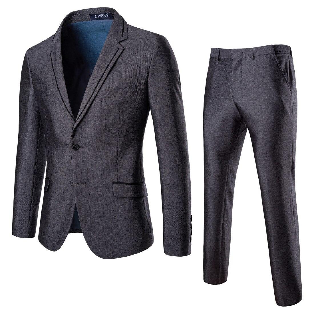 Smart Casual Suits Blazer Men 2019 New Arrival 2 Pieces Business Suit Best Man And Groom Wedding Dress Plus Size Men Coat