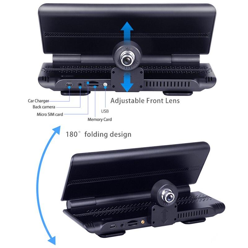 Maiyue stella 7 Pollici 4G Auto DVRFHD 1080P Android Dash Macchina Fotografica di GPS di Navigazione ADAS Auto Video Recorder Dual lente con Telecamera di retromarcia - 6