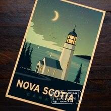 Canadá viagens nova escócia propaganda do vintage retro vintage kraft poster lona diy adesivo de parede barra casa cartazes decoração
