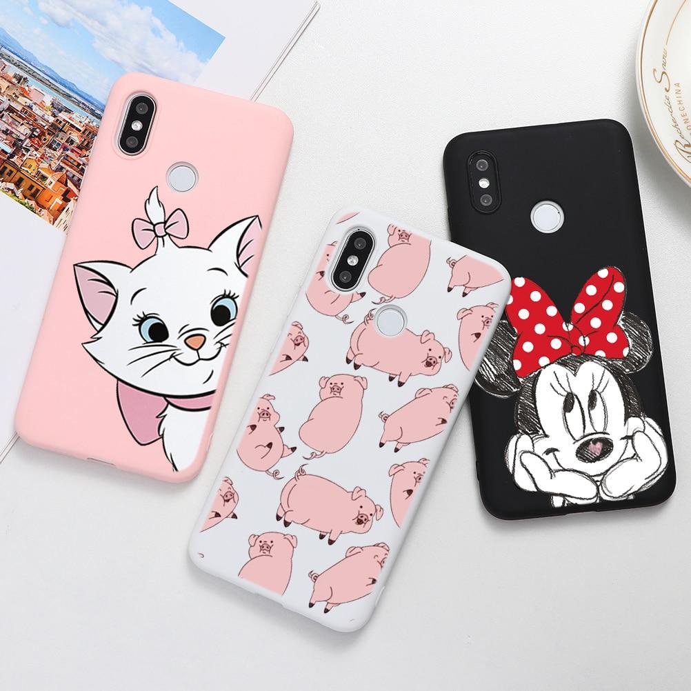 Cartoon Cute Soft TPU Cases For Xiaomi Redmi Mi A3 Note 8 10 7 6 8T 9 K20 Pro CC9e CC9 F1 A1 A2 5X 6X S2 8A 6A 7A Plus Lite Case(China)