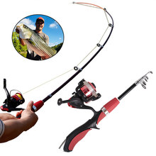 Hot Sale Fishing Rod and Reel Set Casting Rods Carbon Ultra Light with Mini Spinning Reels Tackle