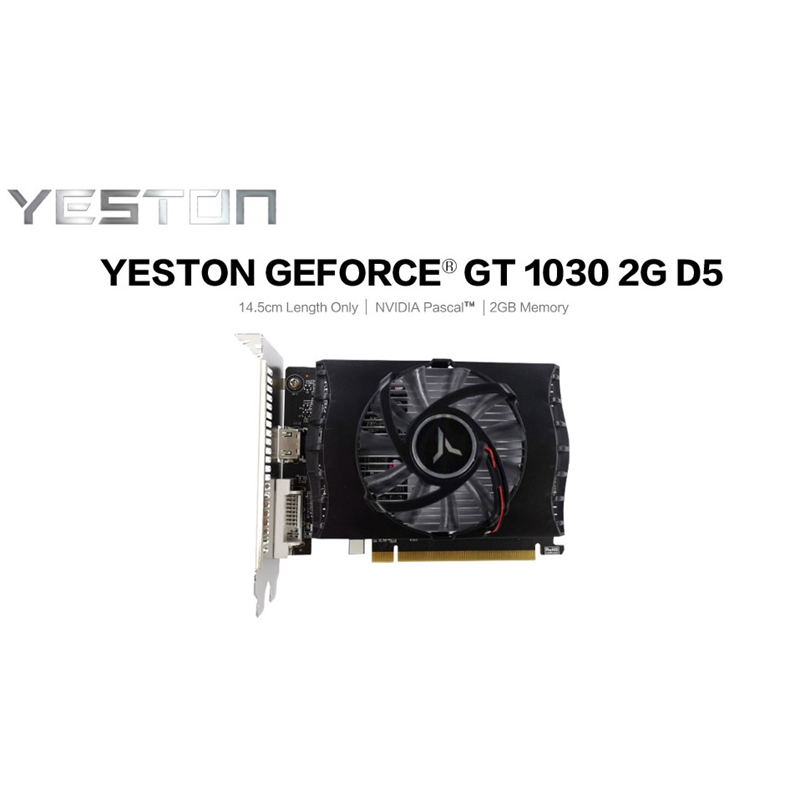 Yeston GT1030 2GB GDDR5 64Bit 1228MHz/1468MHz 6000MHz Gaming Video Image Card