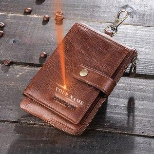Image 2 - İletişim Vintage anahtar cüzdan hakiki deri cüzdan erkek araba anahtarlık kahya çile tasarım bozuk para cüzdanı fermuar tuşları organizatör