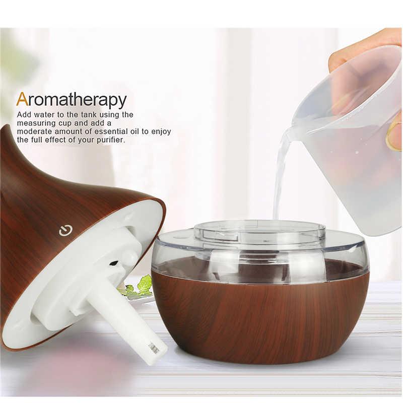 300ml usb aroma difusor de óleo madeira elétrica umidificador ar ultra sônico aromaterapia ledlight névoa maker para casa