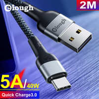 Elough USBC Cable for Huawei Mate 30 pro P30 P20 5A USB C Cable Super Charge Wire Type c cable USB Phone Charger Cord