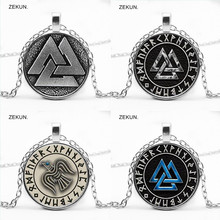 LIAOZEKUN, 2019/Dark Viking Triangle Amulet Pendant Necklace Bump Glass Men and Women Jewelry.
