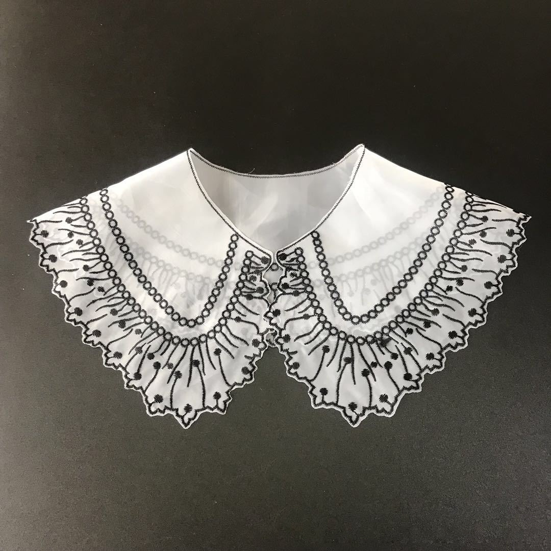 Europe With Yarn Computer Embroidered Fake Collar Simple And Elegant Fake Collar Women's Clothing Fashion Trend Wild Clothing