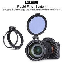 Uurig nd 필터 링 급속 필터 시스템 rfs 퀵 릴리스 플립 브래킷 스위치 sony canon nikon dslr 카메라 액세서리 키트