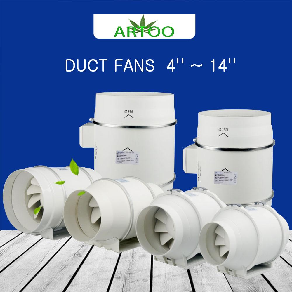 Artoo Centrifugal 120V/230V Fans 4/6 Inch For Indoor Hydroponics Grow Tent Greenhouses Led Grow Light