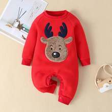 Одежда для новорожденных; малышей с рисунком в виде лося из