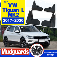 4 PCS Car Mudflaps For Volkswagen VW Tiguan 5N 2017 2018 2019 2020 MK2 Fender Mud Guard Flaps Splash Flap Mudguards Accessories car tempered glass screen protective film sticker gps multimedia lcd guard for vw volkswagen 2017 2018 tiguan mk2 accessories