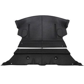 2x tronco traseiro do carro tapete de algodão à prova de som para tesla modelo 3 à prova de som amortecimento capa protetora adesivo para model3 acessórios