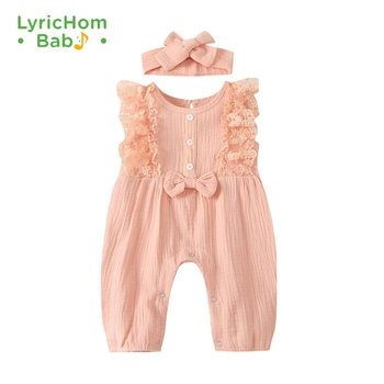 LyricHom Baby Solid Baby Girl Romper Toddler Sleeveless Baby Romper Infant Playsuit Jumpsuits Newborn Girl Clothes christmas baby clothes autumn winter knitted baby deer romper newborn romper infant jumpsuit toddler girl romper