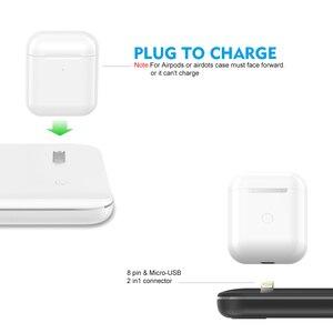 Image 2 - Ahowie 3in1 qi sem fio carregador rápido doca suporte 15 w para apple iphone xs max xr 8 mais estação de carregamento cabo indução chargeur