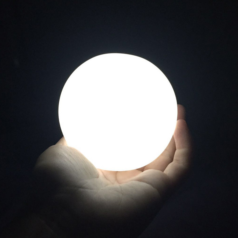 Criativo сиреневого цвета светодиодный luar presente мини lua lmpada alta brilhante luz da noite Светодиодная лампа lmpada de Меса decorao para crianas q