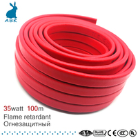 100m 14mm 220V type flame retardancy heating belt Self limiting temperature water pipe protection roof deicing heating cable