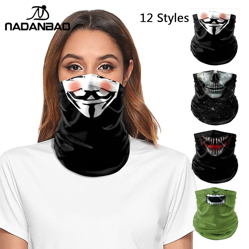 NADANBAO Fashion Face Mask The Punishers Deapool Venom Bandana Shiled Balaclava Cycling Tube Scarf  Headwear Bicycle Headscarf