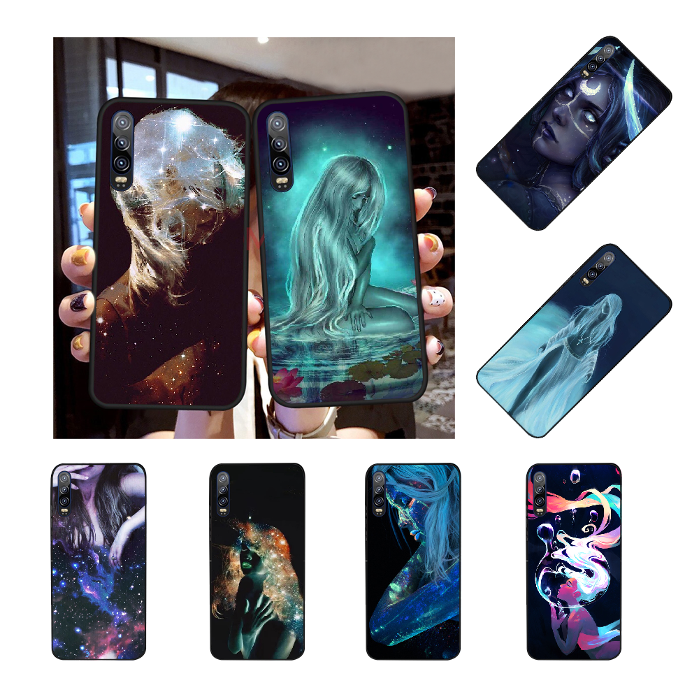 Nbdruicai Starry Fluorescent Body Art Tpu Black Phone Case Cover Hull For Huawei P30 P20 P10 P9 P8 Mate 20 10 Pro Lite Half Wrapped Cases Aliexpress
