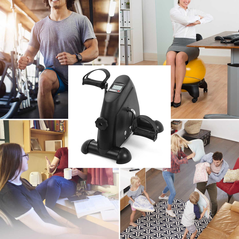 MiniเหยียบStepperเครื่องออกกำลังกายจอแสดงผลLCDจักรยานจักรยานในร่มStepper Treadmill Ttrainingอุปกรณ์สำหรับHome Office Gym