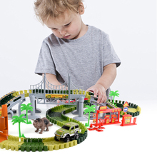 Track Toy Car Assemble DIY Railway Road Tracks Set Baby Car Race Toys  Flexible Track Car Educational Toys Combination Track Car new magic track flexible rail racing car model railway road magical truck pull back tracks cars set diy toys for children gifts