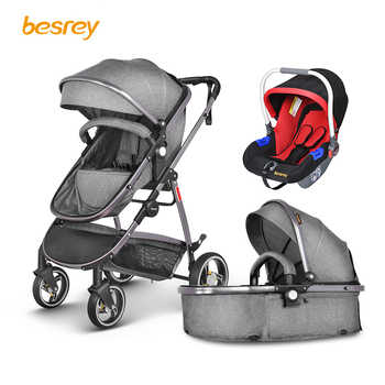 Besrey Baby Stroller 2 in 1 luxury for Newborn Baby Folding Stroller Toddler Carriage Infant Buggy High Landscape Pram Pushchair - DISCOUNT ITEM  0% OFF All Category