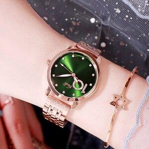 Image 4 - Montres strass à paillettes pour femmes, complet, en acier inoxydable, diamant, Bracelet étanche, offres spéciales