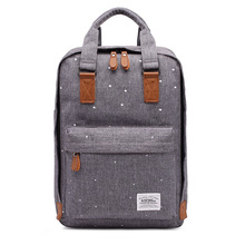 купить Bookbag Stylish Canvas Schoolbag Backpack Travel Hiking Daypack Lightweight Rucksack School Bags for Teenagers Girls Mochila дешево