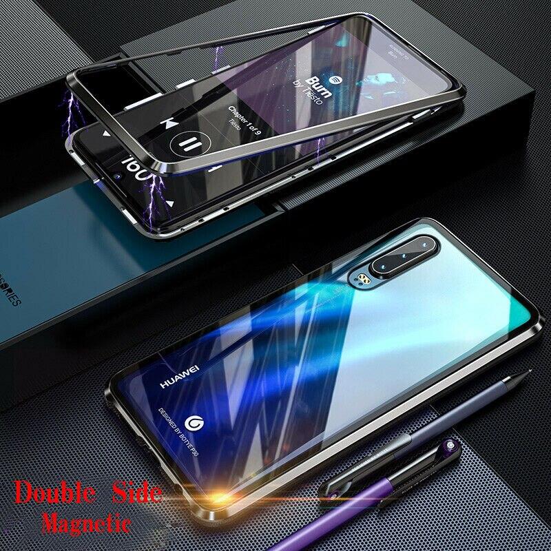 360 Graden Magnetische Adsorptie Glas Case Voor Huawei P30 Lite P20 Pro Mate 20 30 Lite Honor 9X 8X 10 30S Telefoon Case Cover