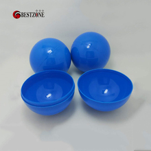 100Pcs/Lot 70MM Diameter Plastic PP Toy Capsules Round Ball Full Blue For Vending Machine Empty Container Shell Kids Gift New