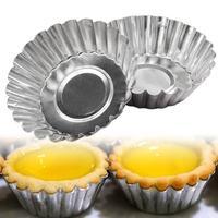 100pcs egg tart mold Portuguese tart chrysanthemum flower round coconut tart cake cake mold Kitchen bar supplies|  -